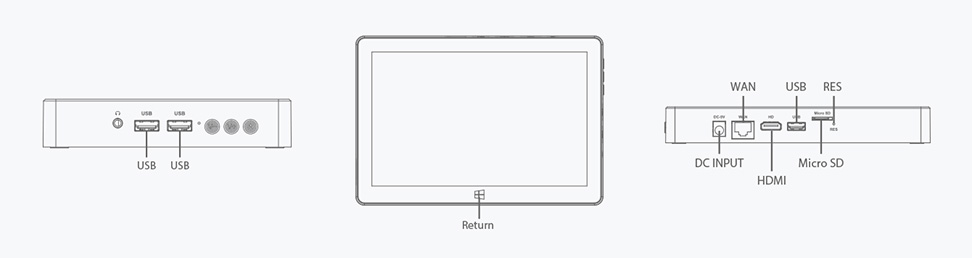 F6 10.1'' Industrial Tablet